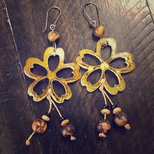 Gorgeous floral earrings